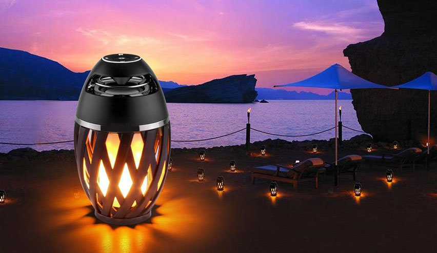 LED Flame Effect Waterproof Bluetooth Speaker