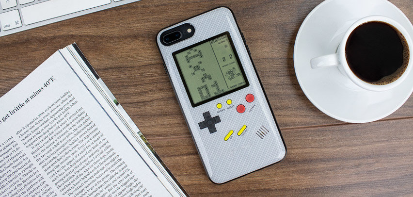 SuperSpot iPhone 8 Plus Retro Game Case - Carbon White