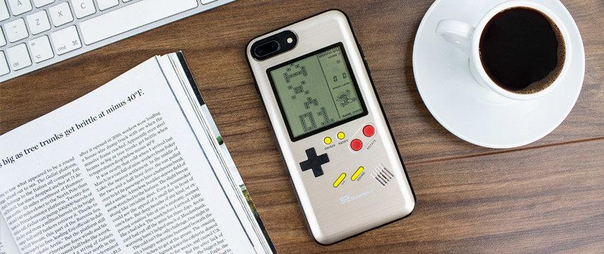 SuperSpot iPhone 8 Plus Retro Game Case - Gold