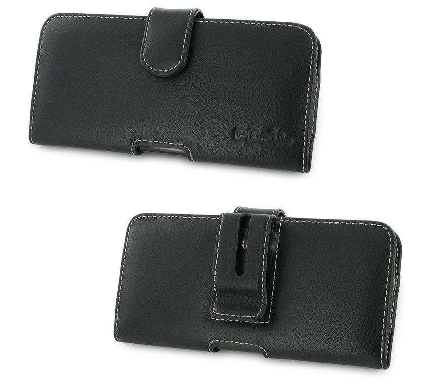 PDair HTC U12 Plus Leather Horizontal Pouch Case - Black