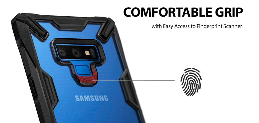 Rearth Ringke Fusion X Samsung Galaxy Note 9 Tough Case - Black
