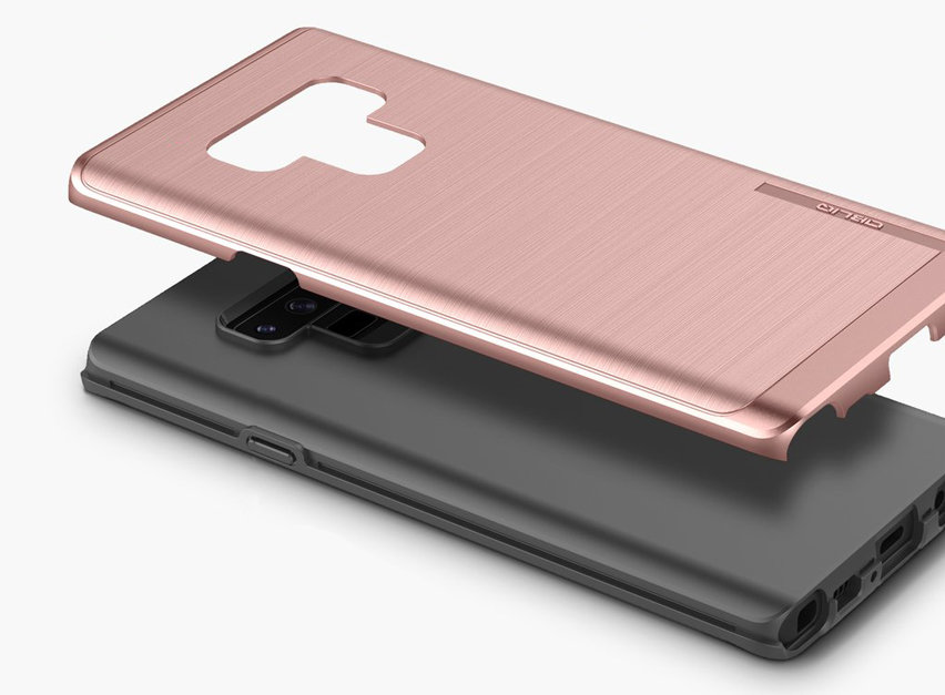 Obliq Slim Meta Samsung Galaxy Note 9 Case - Rose Gold