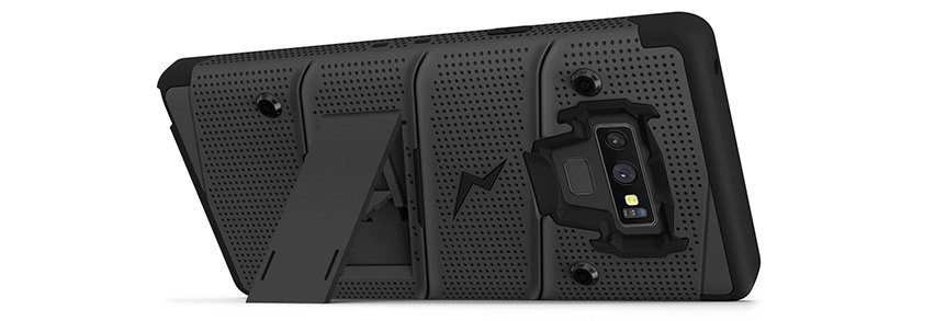 Zizo Bolt Series Samsung Galaxy Note 9 Tough Case & Belt Clip - Black