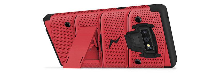 Zizo Bolt Series Samsung Galaxy Note 9 Tough Case & Belt Clip - Red