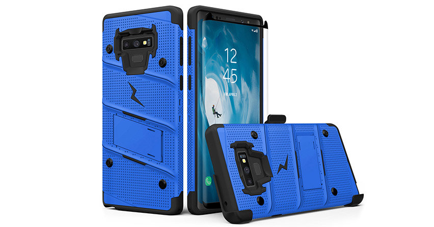 Zizo Bolt Series Samsung Galaxy Note 9 Tough Case & Belt Clip - Blue