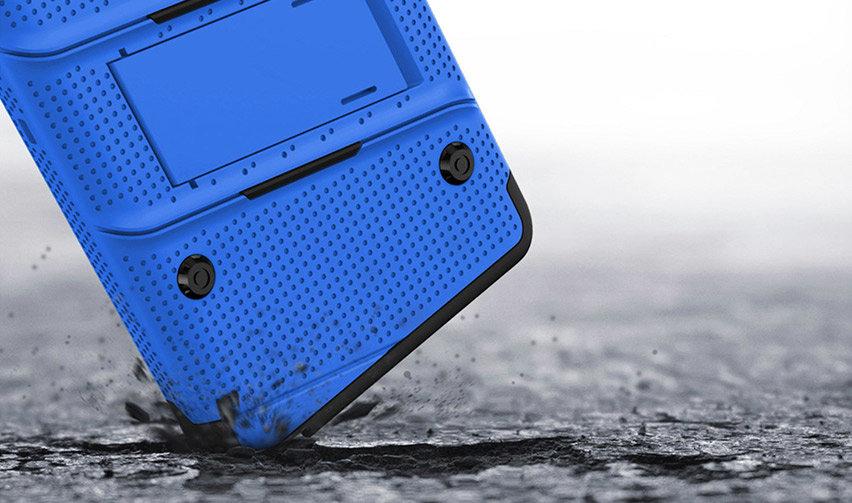 Zizo Bolt Series Samsung Galaxy Note 9 Tough Case & Belt Clip - Blue