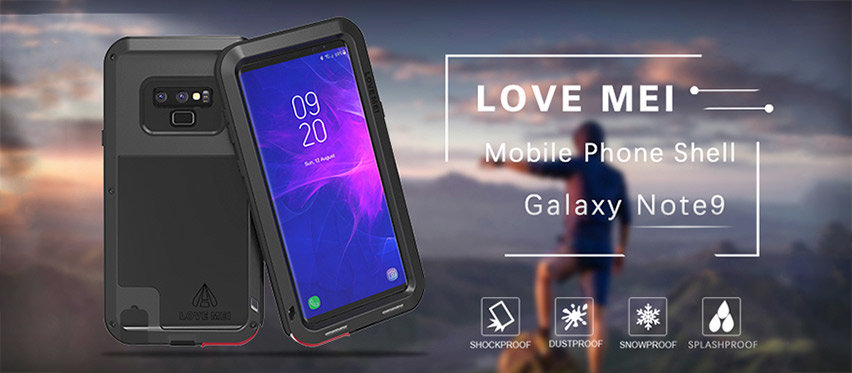 Love Mei Powerful Samsung Galaxy Note 9 Protective Case - Black