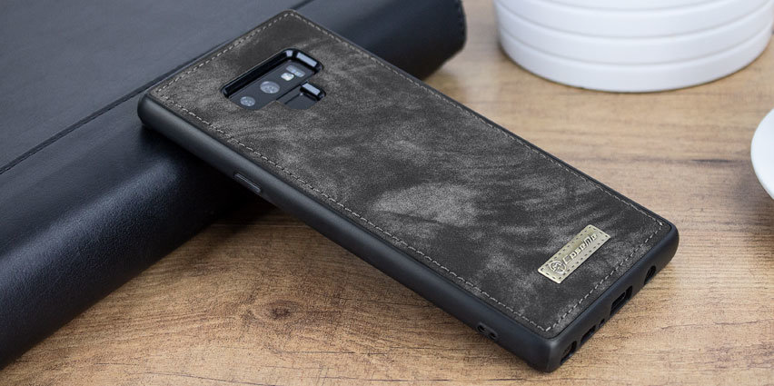 sports shoes b2ed3 bf11d Samsung Galaxy Note 9 Leather-Style 3-in-1 Wallet Case - Black/Grey