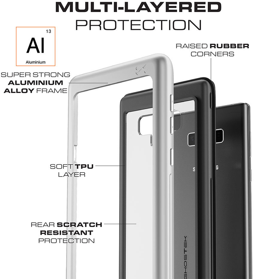Ghostek Atomic Slim Samsung Galaxy Note 9 Tough Case - Black