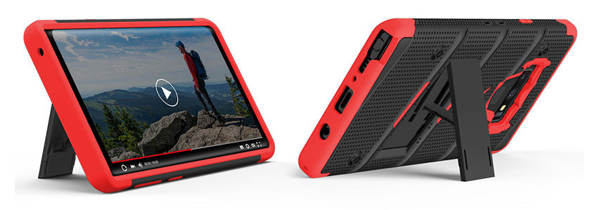 Zizo Bolt Samsung Galaxy Note 9 Tough Case & Belt Clip - Black / Red