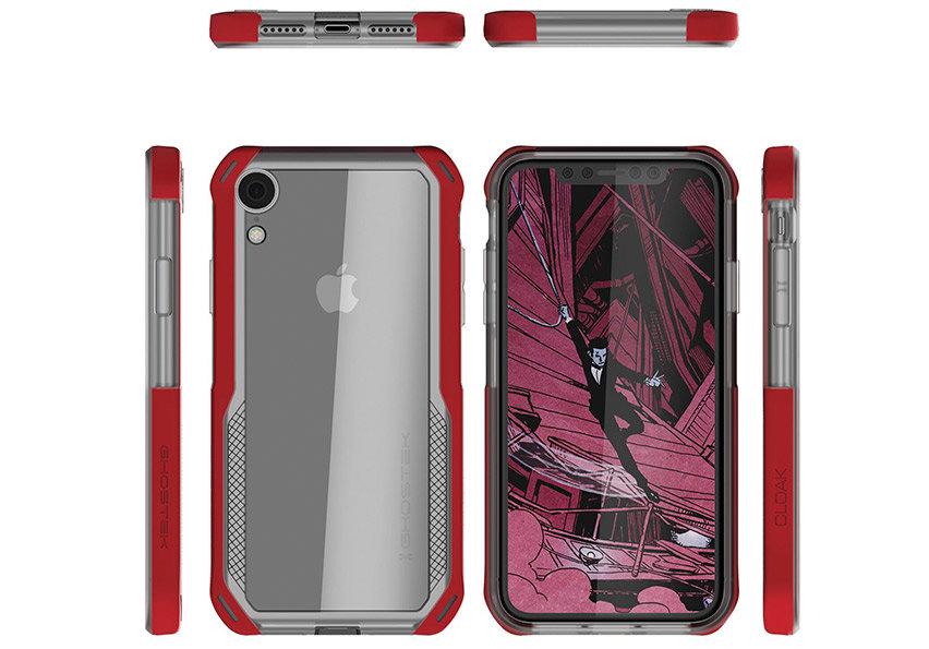 Ghostek Cloak 4 iPhone XR Tough Case - Clear / Red