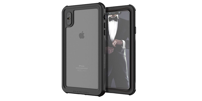Coque iPhone XS Max Ghostek Nautical 2 étanche / waterproof – Noir
