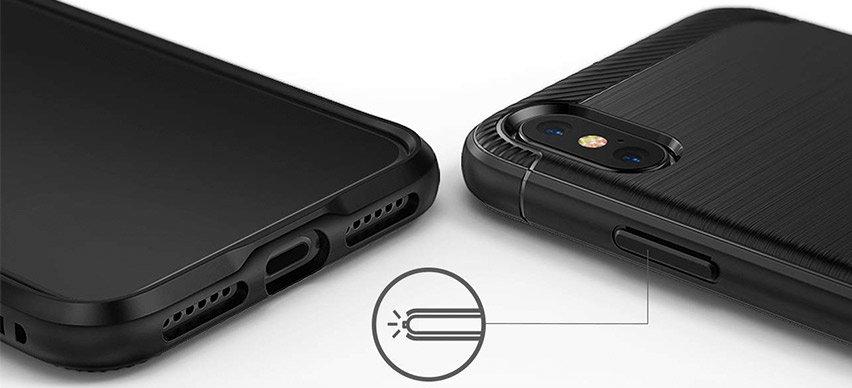 Rearth Ringke Onyx iPhone XS Tough Case - Black
