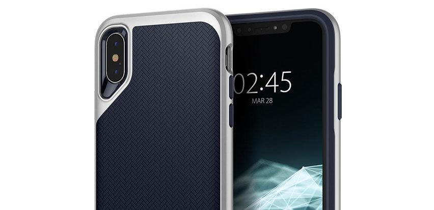 Spigen Neo Hybrid iPhone XS Case - Satin Silver