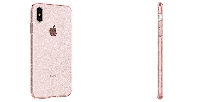 18edc77fe492 Spigen Liquid Crystal Glitter iPhone XS Max Shell Case - Rose Quartz