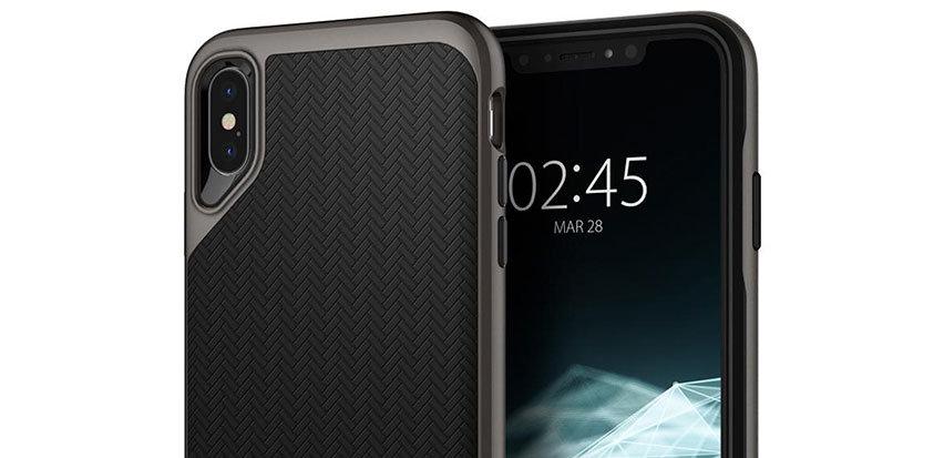f9e0377b85 Spigen Neo Hybrid iPhone XS Plus Case - Gunmetal