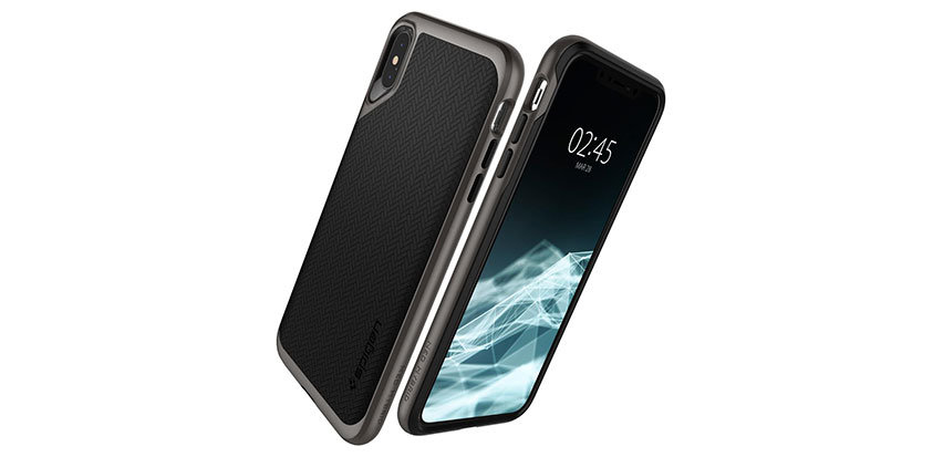 Spigen Neo Hybrid iPhone XS Plus Case - Gunmetal
