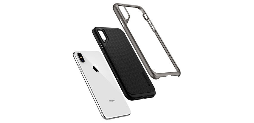 Spigen Neo Hybrid iPhone XS Plus Case - Gunmetal
