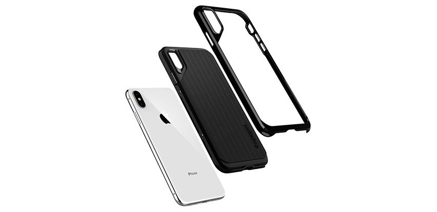 Spigen Neo Hybrid iPhone XS Plus Case - Jet Black