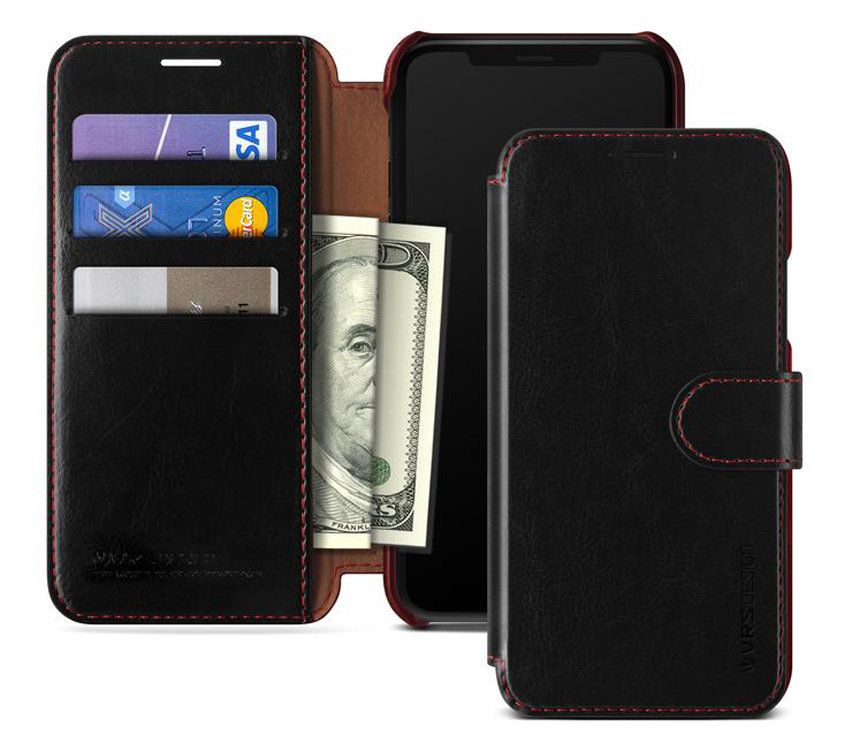 vrs design dandy leatherstyle iphone xs max wallet case