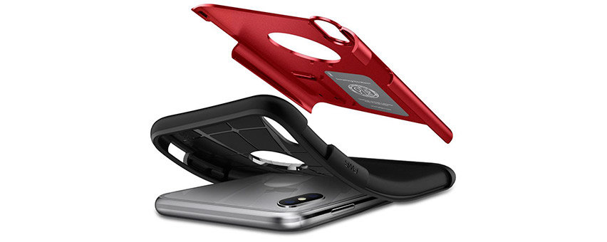 Spigen Slim Armor iPhone XS Max Tough Case - Red