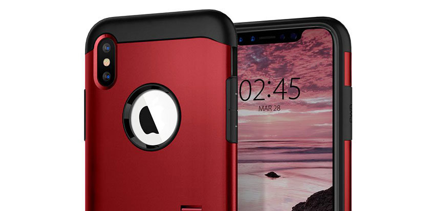 Spigen Slim Armor iPhone XS Plus Tough Case - Red