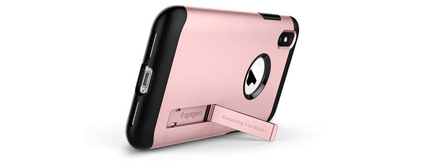 Spigen Slim Armor iPhone XS Max Tough Case - Rose Gold