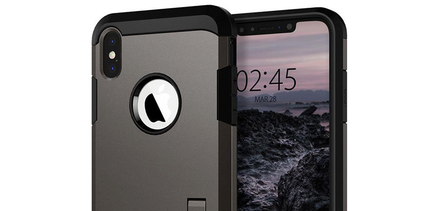 Spigen Tough Armor iPhone XS Plus Case - Gunmetal