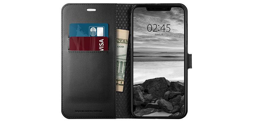 Spigen Wallet S iPhone XS Plus Case - Black