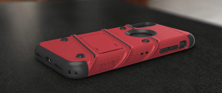 Zizo Bolt iPhone XS Max Tough Case & Screen Protector - Red / Black