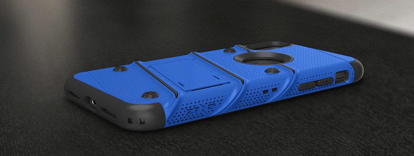 Zizo Bolt iPhone XR Tough Case & Screen Protector - Blue / Black