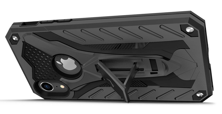 innovative design e6a81 bd05d Zizo Static iPhone XR Kickstand Tough Case - Black