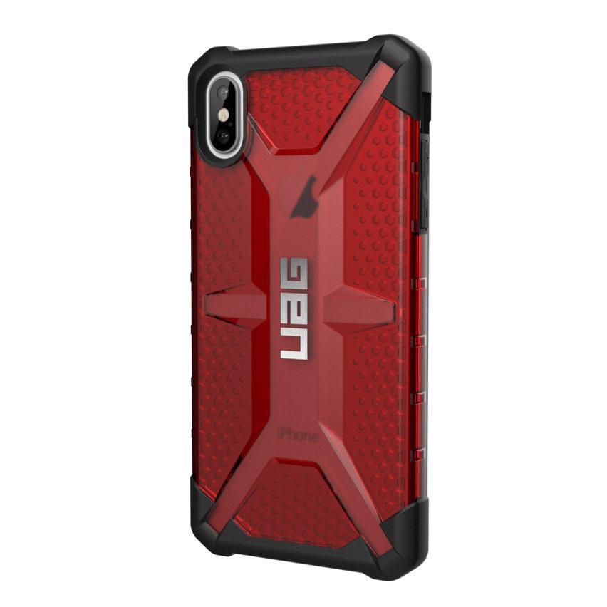 Coque iPhone XS Max UAG Plasma – Coque robuste – Rouge magma