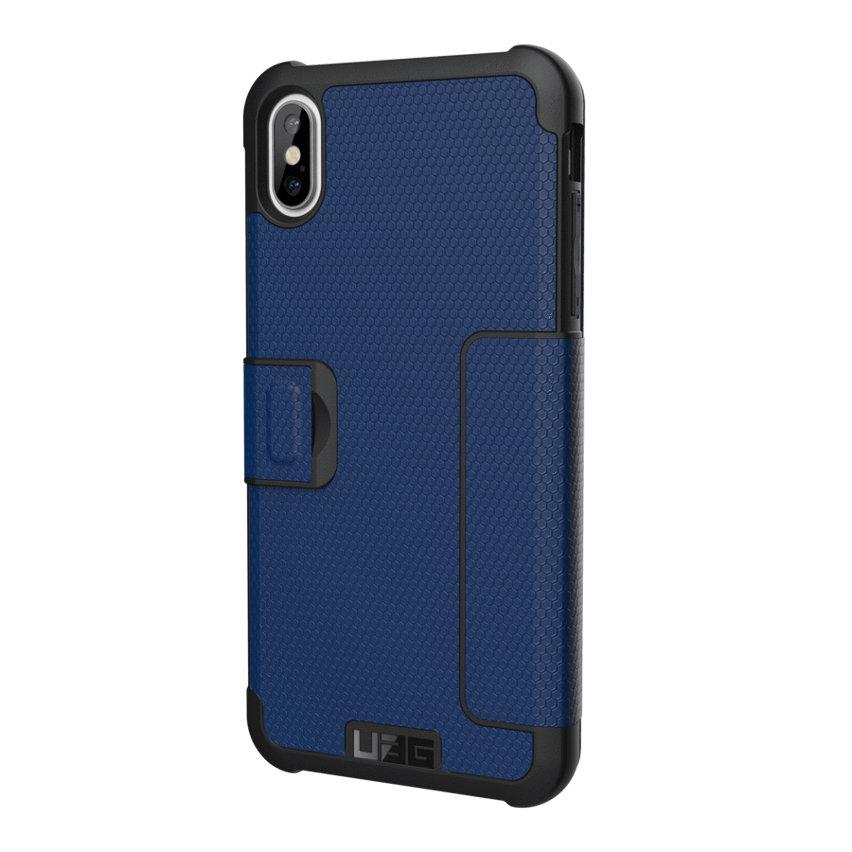 UAG Metropolis iPhone XS Max Rugged Wallet Case - Cobalt