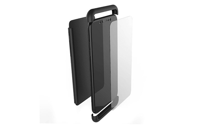 Krusell Arvika 3.0 iPhone XS Full Cover - Black