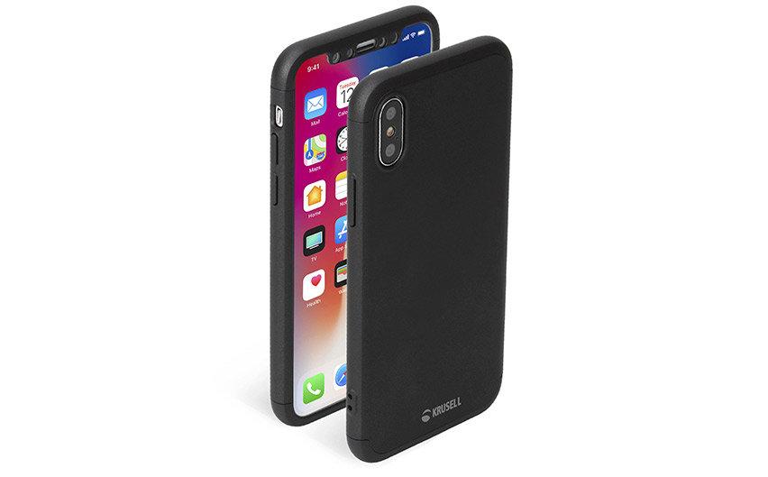 Krusell Arvika 3.0 iPhone XS Max Full Cover - Black