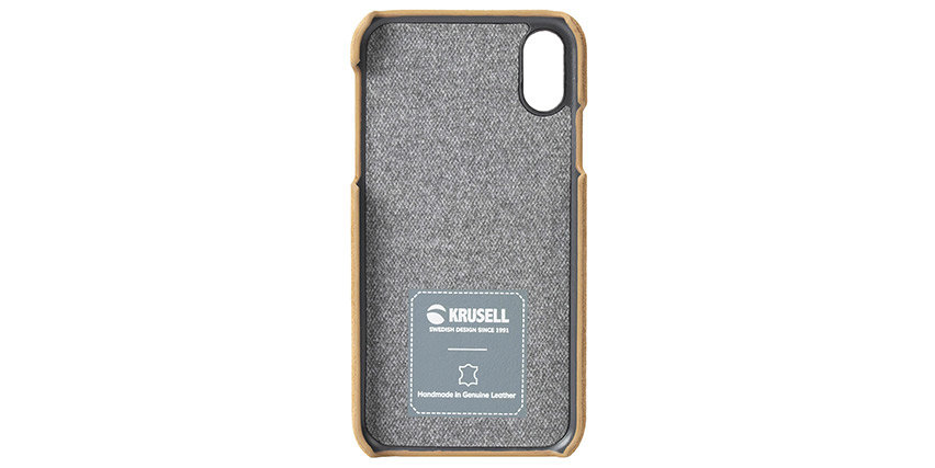 Krusell Broby iPhone XR Leather Case - Cognac
