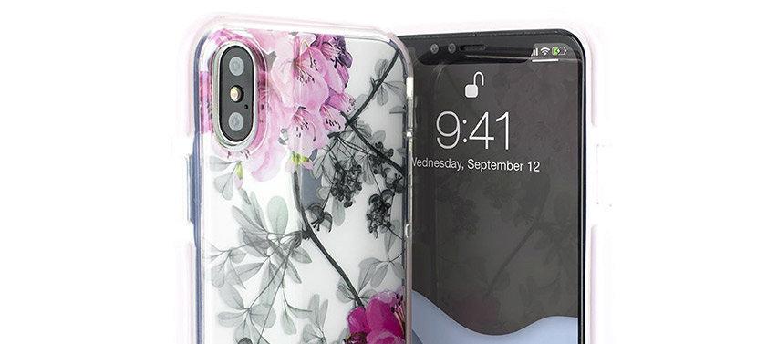 Ted Baker Anti Shock iPhone XS Case - Babylon Nickel