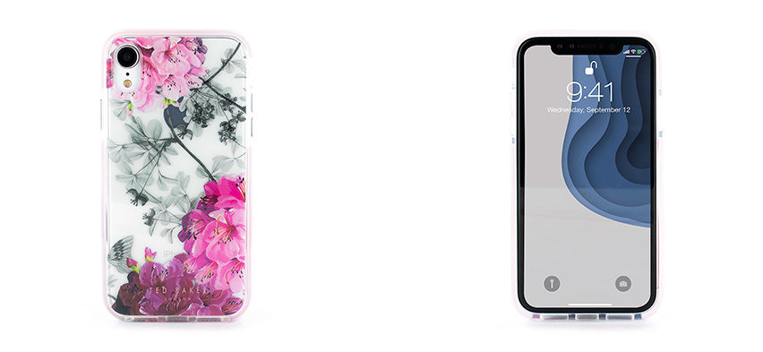 Ted Baker Anti Shock iPhone XR Case - Babylon Nickel