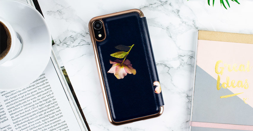 Ted Baker iPhone XR Mirror Folio Case - Arboretum