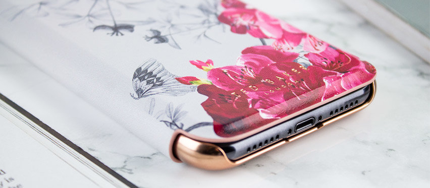 Ted Baker iPhone XS Mirror Folio Case - Babylon
