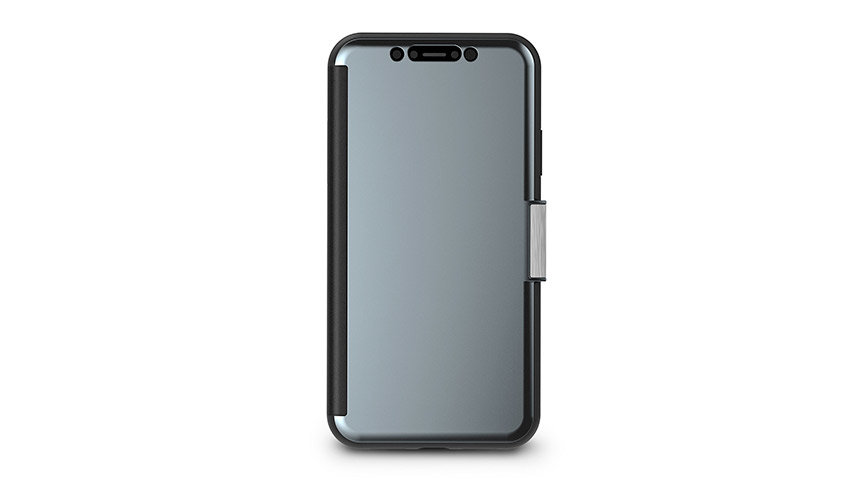 Coque iPhone XR Moshi StealthCover Clear View – Gris gunmetal