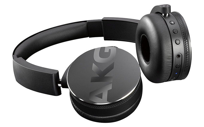 AKG Y50BT On-Ear Foldable Bluetooth Headphones - Black