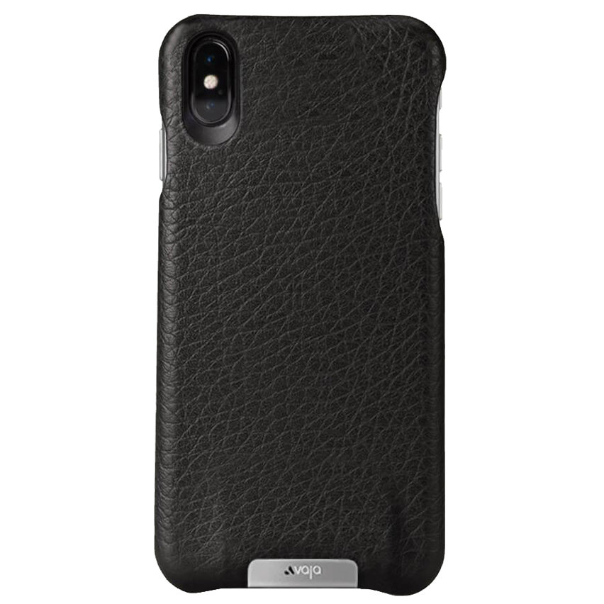 Vaja Grip iPhone XS Max Premium Leather Case - Black