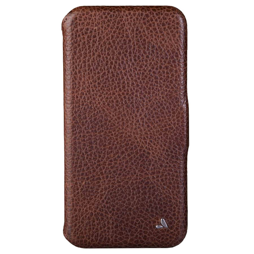 Vaja Wallet Agenda iPhone XS Max Premium Leather Case - Tan