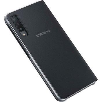 Official Samsung Galaxy A7 2018 Wallet Cover Case - Black
