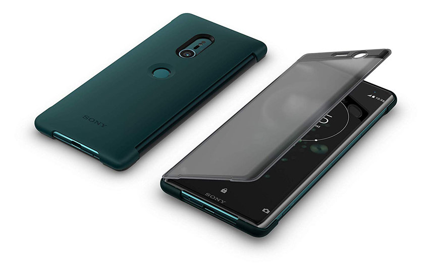 Official Sony Xperia XZ3 SCTH70 Style Cover Touch Case - Green