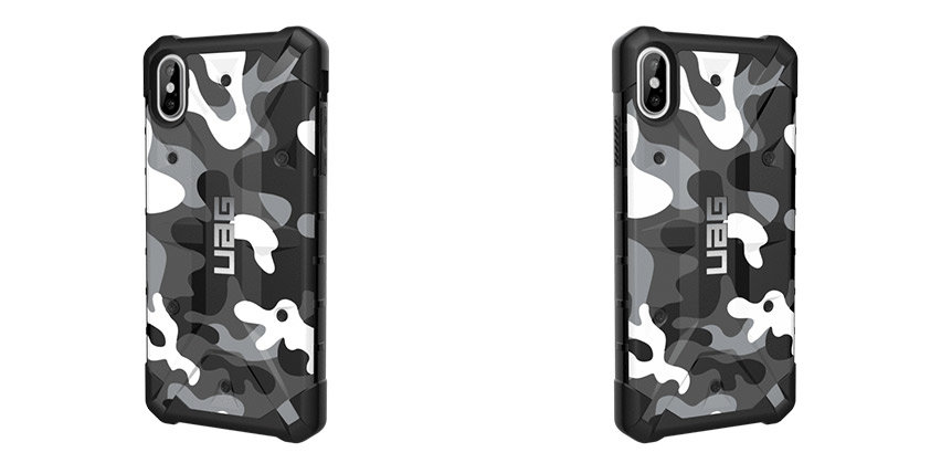 info for 01855 2aff2 UAG Pathfinder SE iPhone XS Max Rugged Case - Arctic Camo