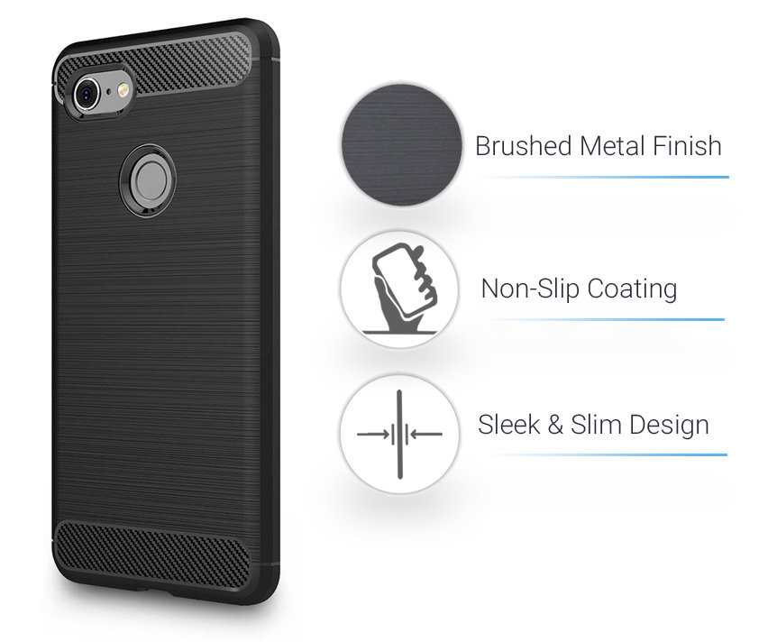 Olixar Sentinel Google Pixel 3 XL Case And Glass Screen Protector