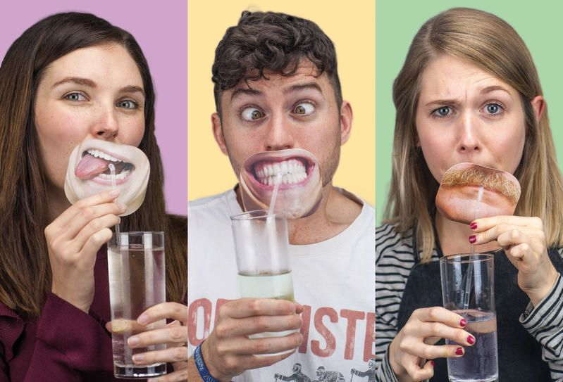 Quirky Party Face Straw Toppers - 10 Party Straws